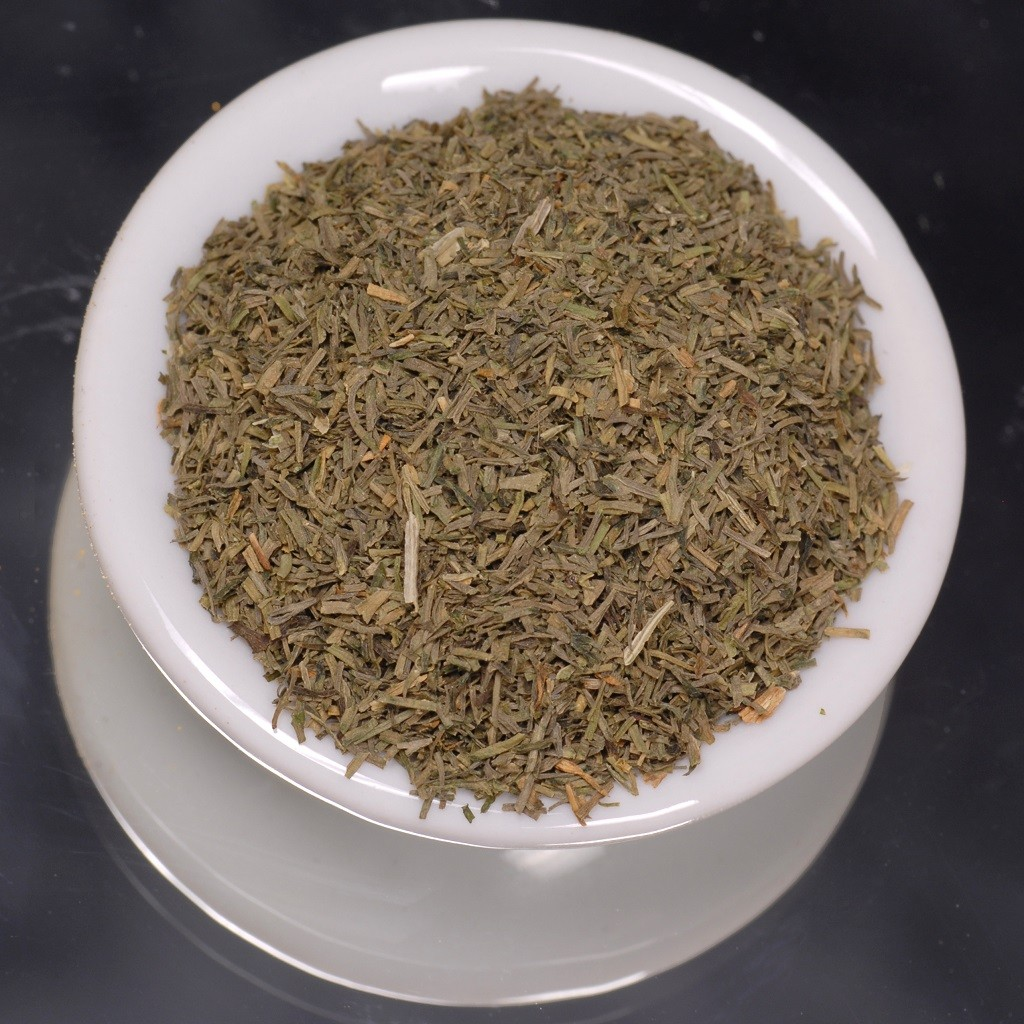 decarbed weed in a ceramic bowl
