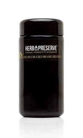 Herb Preserve Quarter Oz (100 ml) Capacity Medium Size Screwtop Jar Black