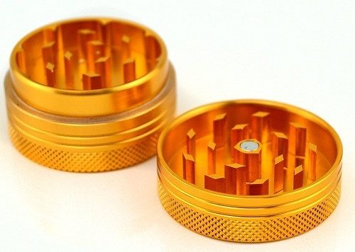 Slug Life Herb Grinder 2 Parts 1.5 Inch (Gold)