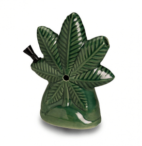 Ceramic Pot Leaf Bong