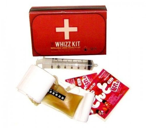 Whizz urine test kit with synthetic urine