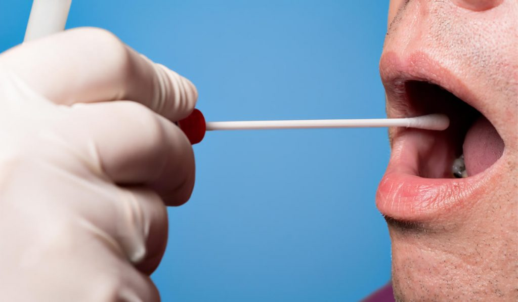 how to pass saliva swab test