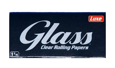Glass All Natural 1.25 Clear Cigarette Rolling Papers, 3 Packs of 50