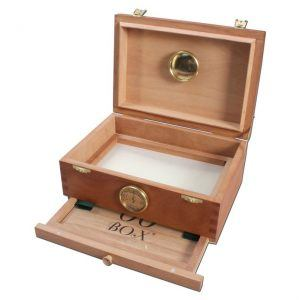Small Personal Humidor with Hygrometer