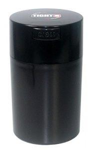 Tightvac - 1 to 6 oz Vacuum Sealed Storage Container, Black Cap & Body