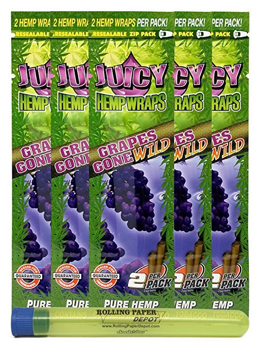 Juicy Grape Pure Hemp Wraps (5 Packs)